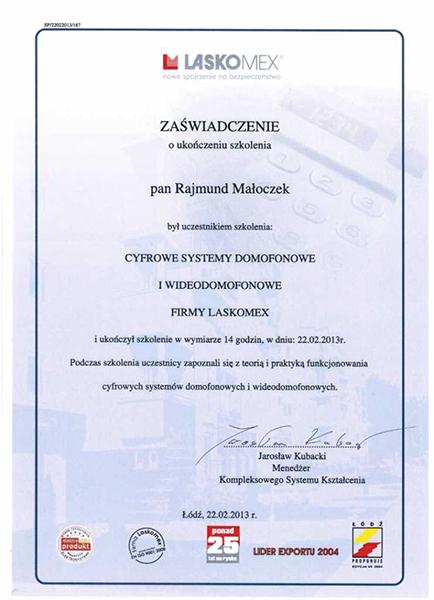 certyfikat-laskomex