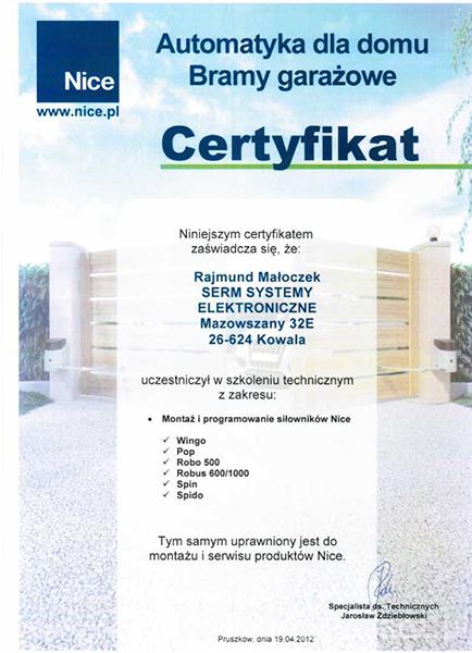 certyfikat-nice