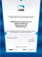 certyfikat-came